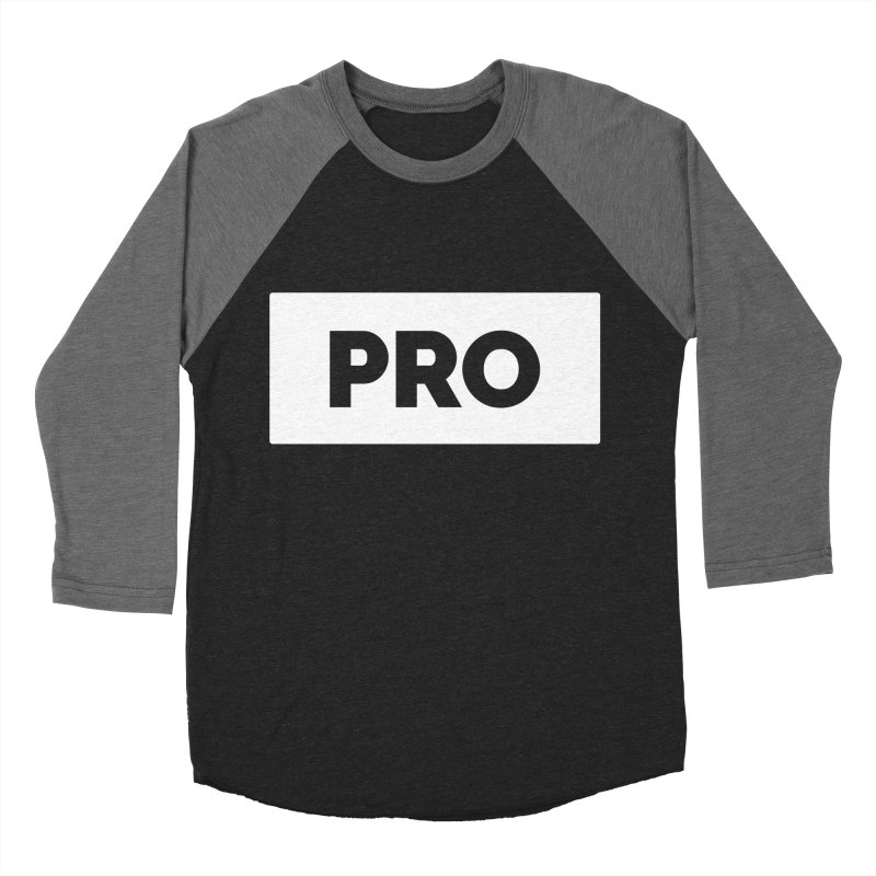 Like a PRO Men's Baseball Triblend Longsleeve T-Shirt by Shirts by Hal Gatewood