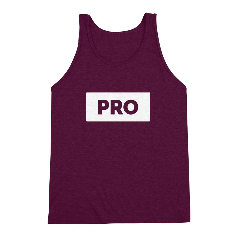 Like a PRO Men's Triblend Tank by Shirts by Hal Gatewood