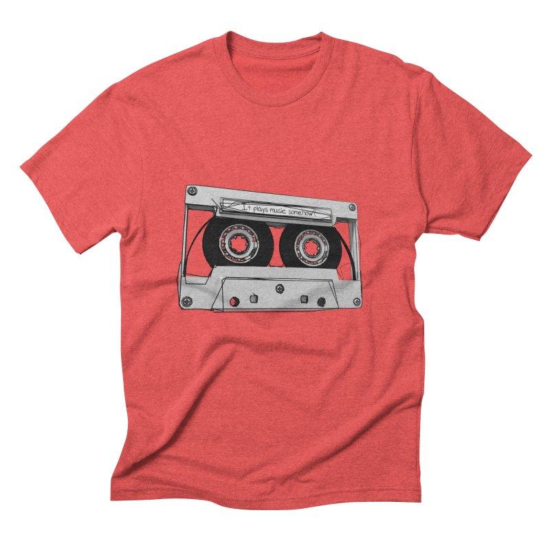 It plays music somehow? Men's Triblend T-Shirt by hamenthotep's Artist Shop