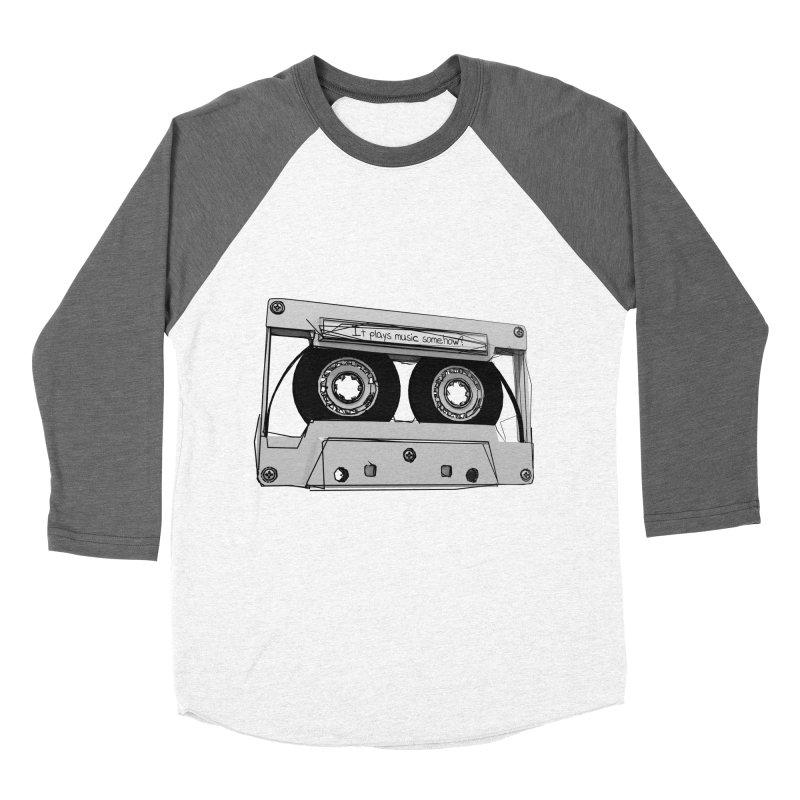 It plays music somehow? Men's Baseball Triblend Longsleeve T-Shirt by hamenthotep's Artist Shop
