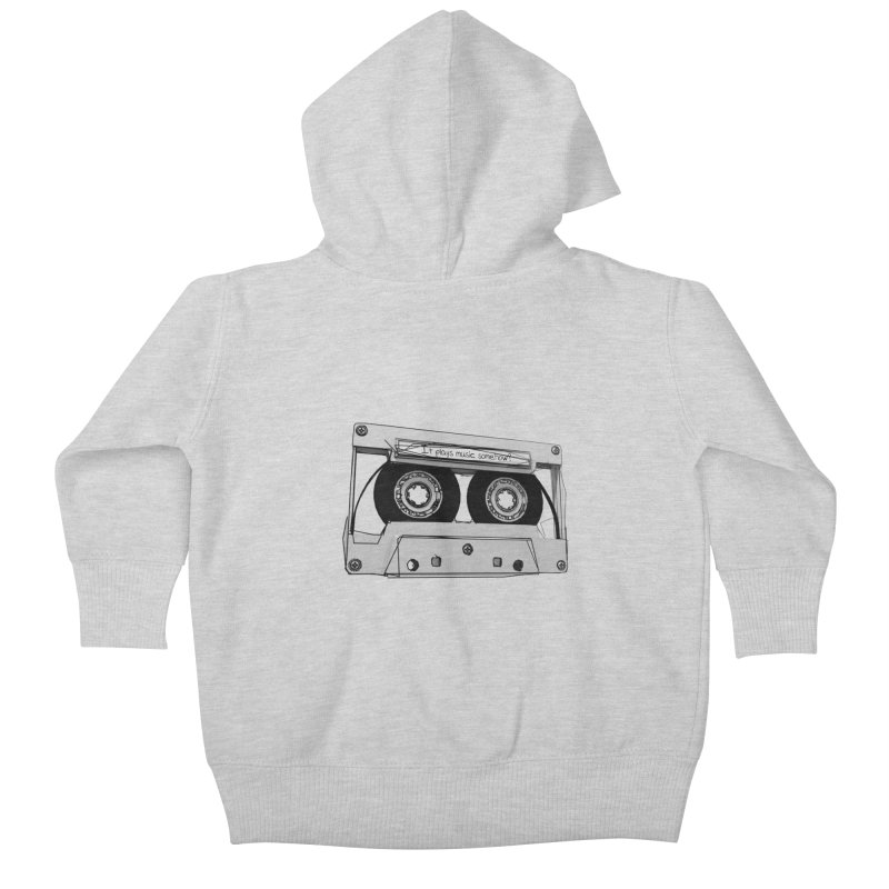 It plays music somehow? Kids Baby Zip-Up Hoody by hamenthotep's Artist Shop
