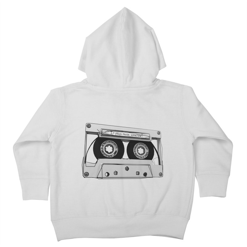 It plays music somehow? Kids Toddler Zip-Up Hoody by hamenthotep's Artist Shop