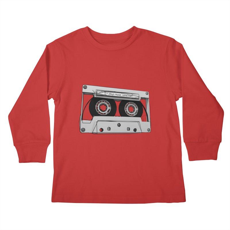 It plays music somehow? Kids Longsleeve T-Shirt by hamenthotep's Artist Shop