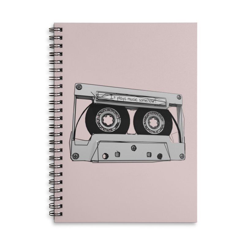 It plays music somehow? Accessories Lined Spiral Notebook by hamenthotep's Artist Shop