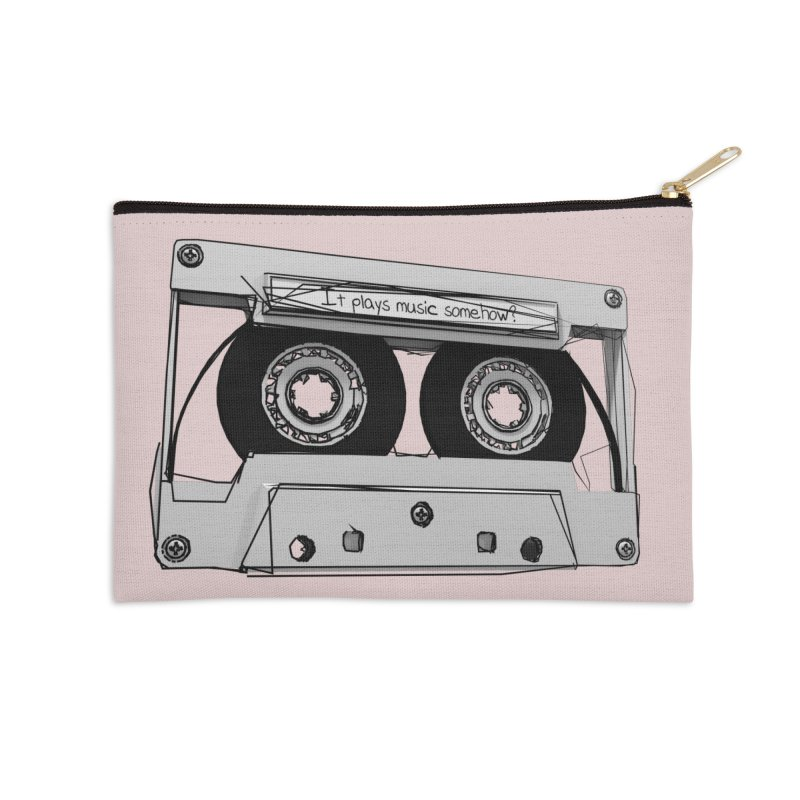 It plays music somehow? Accessories Zip Pouch by hamenthotep's Artist Shop