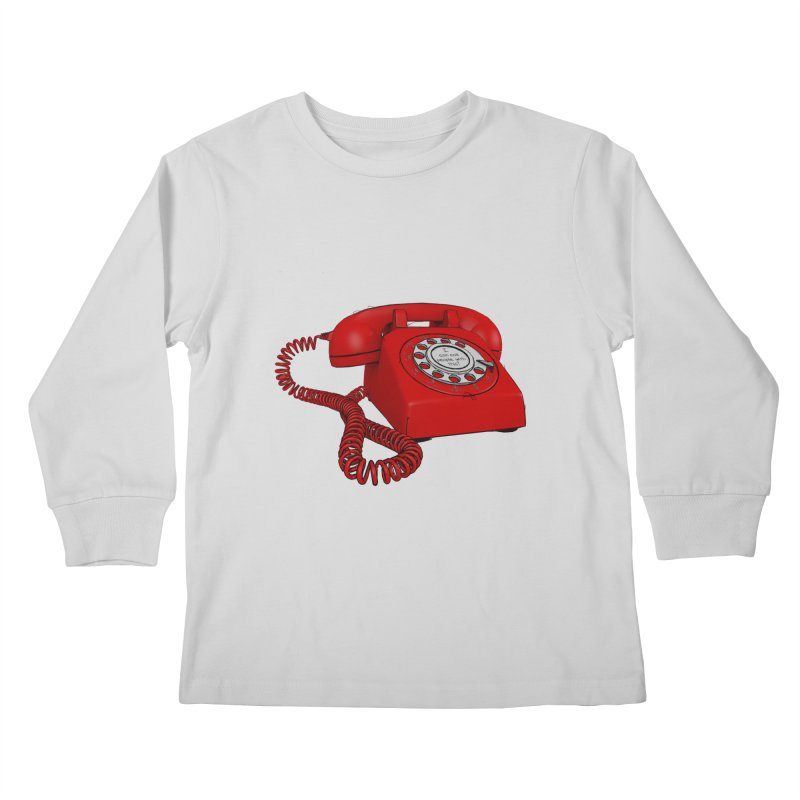 I can call people with this? Kids Longsleeve T-Shirt by hamenthotep's Artist Shop