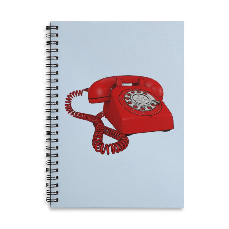 I can call people with this? Accessories Lined Spiral Notebook by hamenthotep's Artist Shop