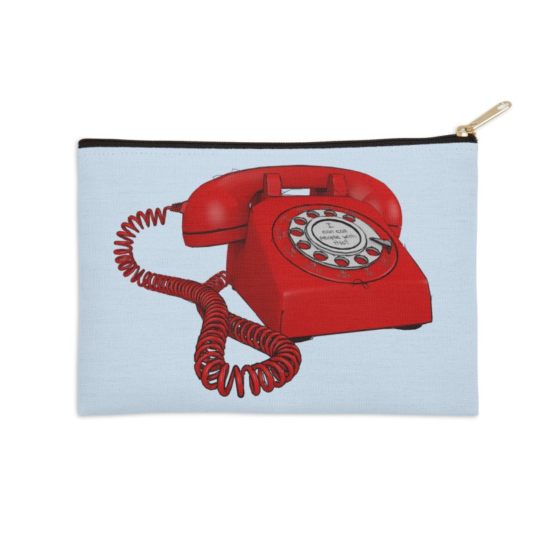 I can call people with this? Accessories Zip Pouch by hamenthotep's Artist Shop