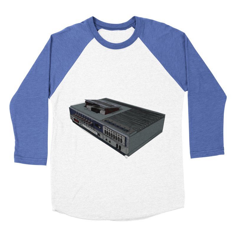 I can watch movies with this? Women's Baseball Triblend Longsleeve T-Shirt by hamenthotep's Artist Shop