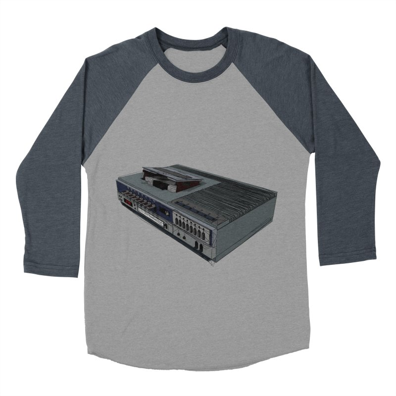 I can watch movies with this? Men's Baseball Triblend Longsleeve T-Shirt by hamenthotep's Artist Shop