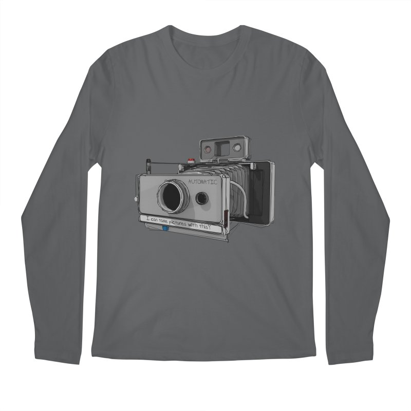 I can take pictures with this? Men's Longsleeve T-Shirt by hamenthotep's Artist Shop