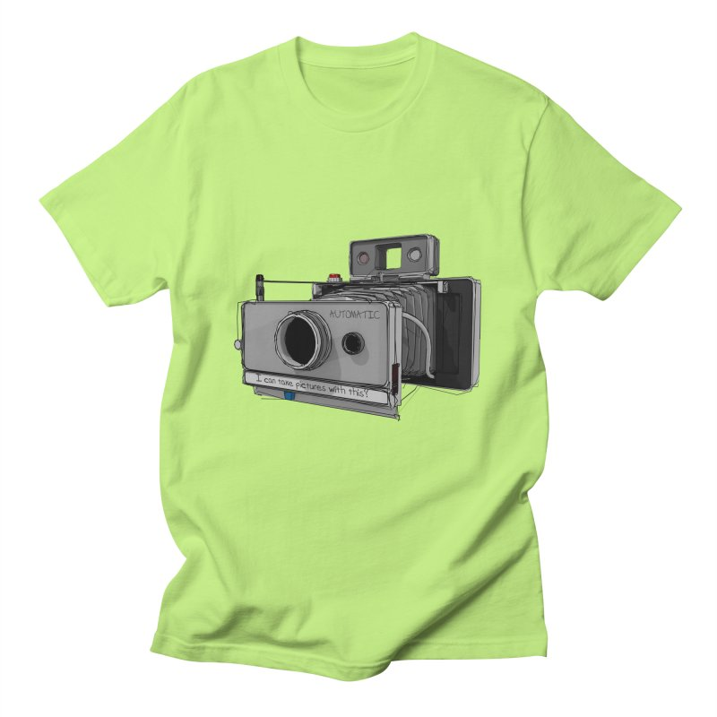 I can take pictures with this? Men's T-Shirt by hamenthotep's Artist Shop