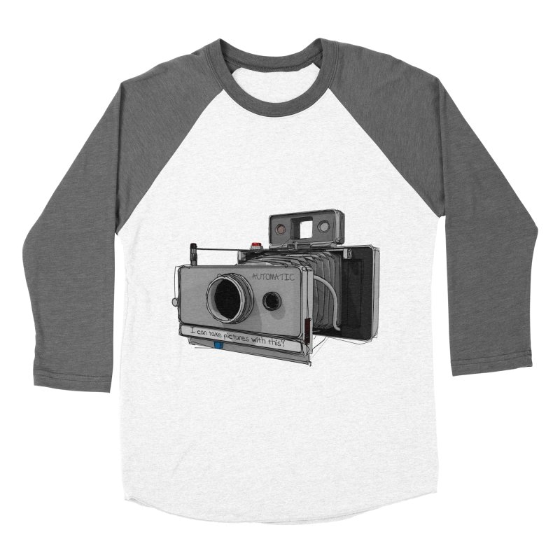 I can take pictures with this? Men's Baseball Triblend Longsleeve T-Shirt by hamenthotep's Artist Shop