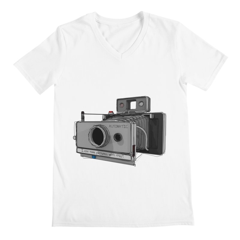 I can take pictures with this? Men's V-Neck by hamenthotep's Artist Shop