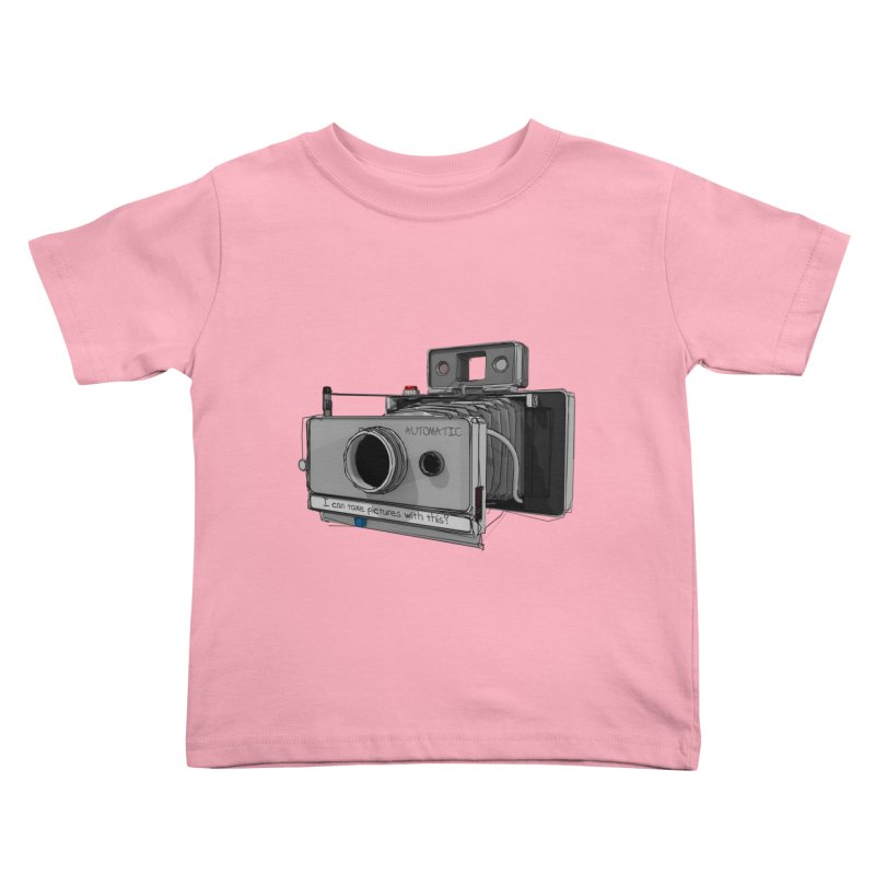 I can take pictures with this? Kids Toddler T-Shirt by hamenthotep's Artist Shop