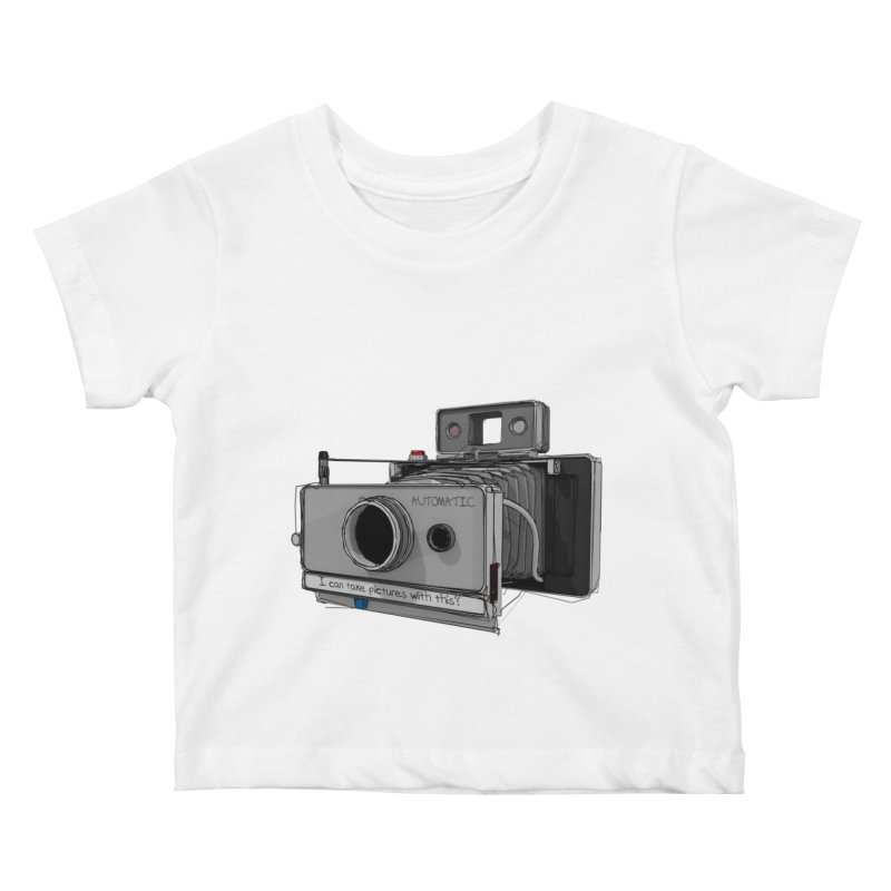 I can take pictures with this? Kids Baby T-Shirt by hamenthotep's Artist Shop