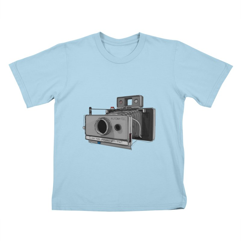 I can take pictures with this? Kids T-Shirt by hamenthotep's Artist Shop