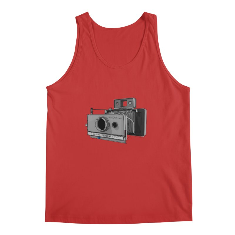 I can take pictures with this? Men's Regular Tank by hamenthotep's Artist Shop