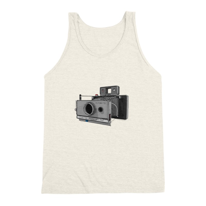 I can take pictures with this? Men's Triblend Tank by hamenthotep's Artist Shop