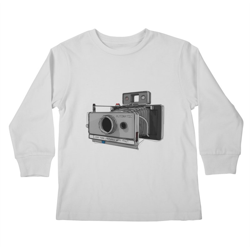 I can take pictures with this? Kids Longsleeve T-Shirt by hamenthotep's Artist Shop