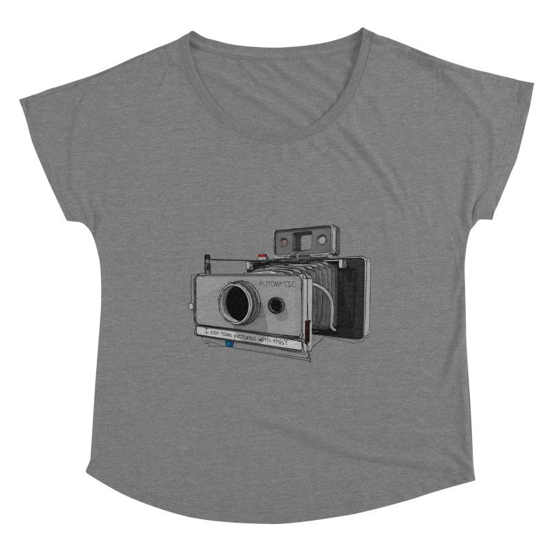 I can take pictures with this? Women's Scoop Neck by hamenthotep's Artist Shop
