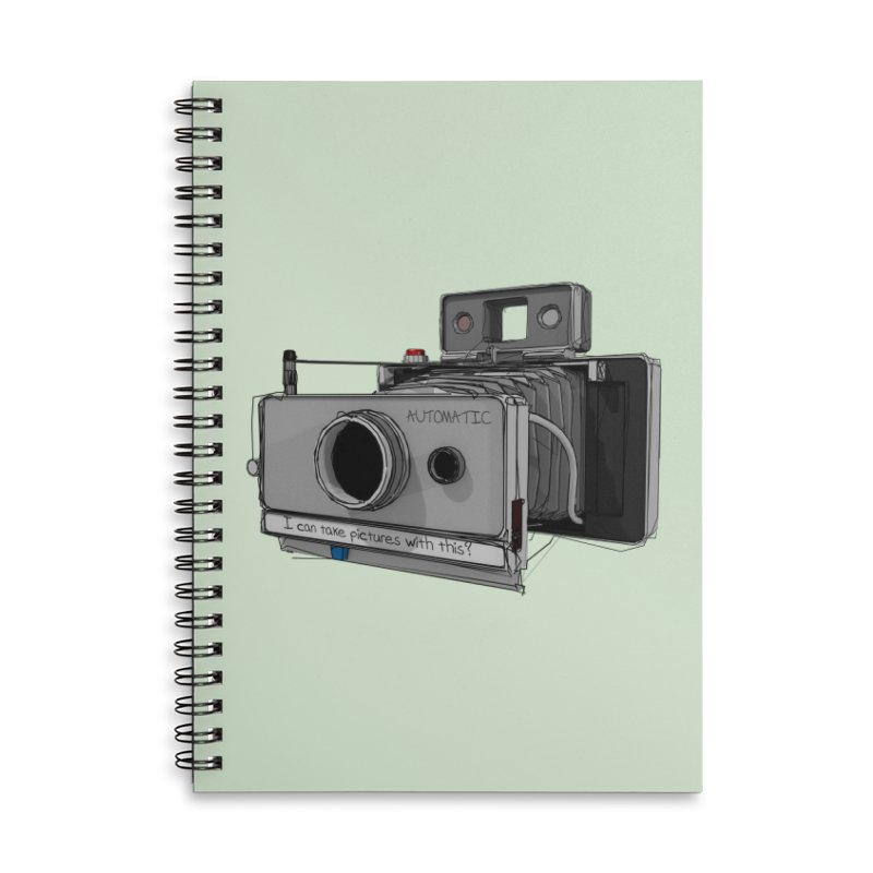 I can take pictures with this? Accessories Lined Spiral Notebook by hamenthotep's Artist Shop