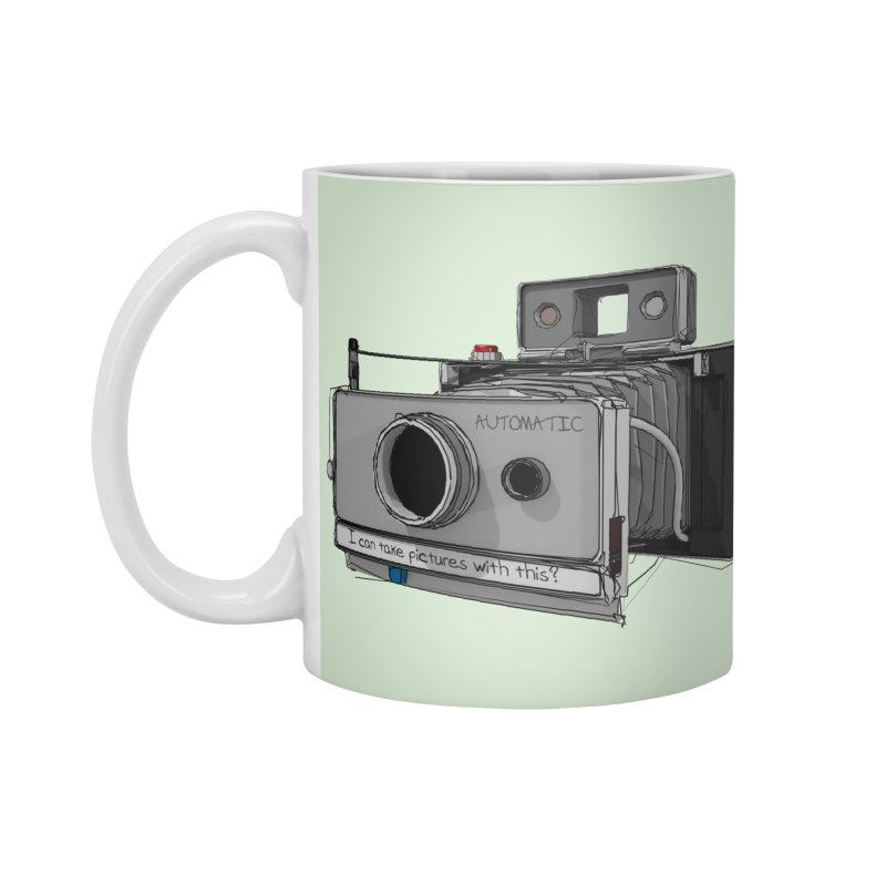 I can take pictures with this? Accessories Standard Mug by hamenthotep's Artist Shop