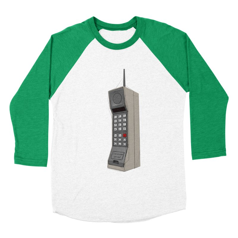 Are you sure it's a mobile phone? Women's Baseball Triblend Longsleeve T-Shirt by hamenthotep's Artist Shop