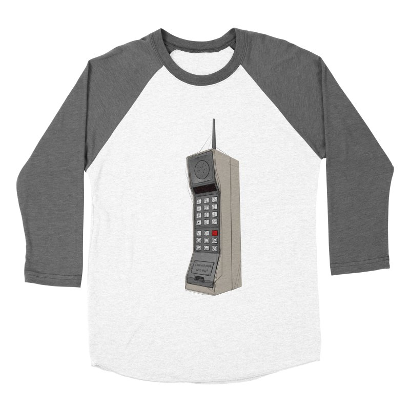Are you sure it's a mobile phone? Men's Baseball Triblend Longsleeve T-Shirt by hamenthotep's Artist Shop