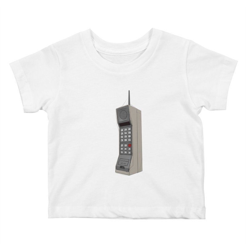 Are you sure it's a mobile phone? Kids Baby T-Shirt by hamenthotep's Artist Shop