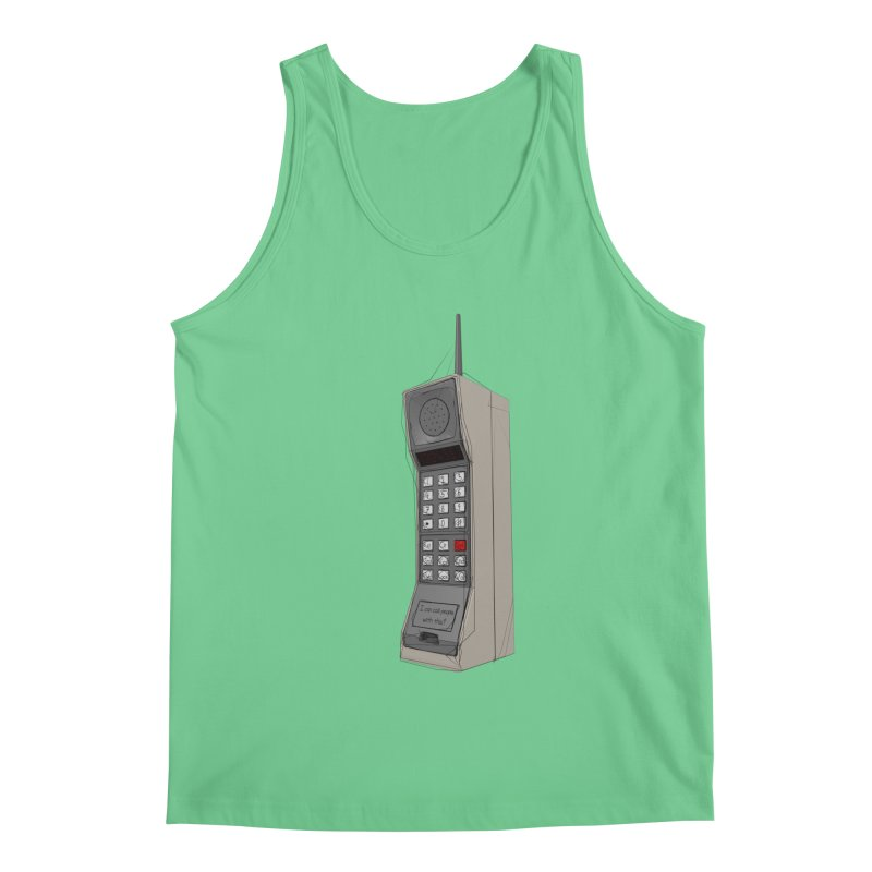 Are you sure it's a mobile phone? Men's Regular Tank by hamenthotep's Artist Shop