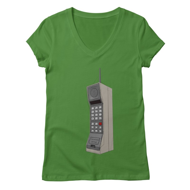 Are you sure it's a mobile phone? Women's Regular V-Neck by hamenthotep's Artist Shop