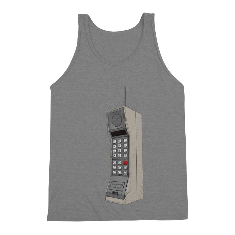 Are you sure it's a mobile phone? Men's Triblend Tank by hamenthotep's Artist Shop