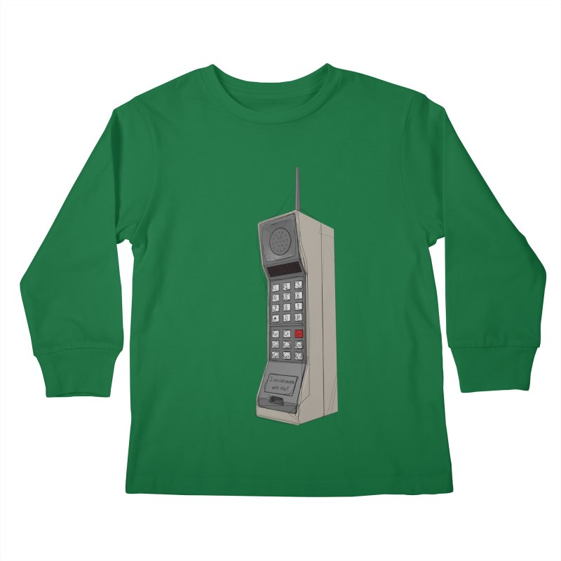 Are you sure it's a mobile phone? Kids Longsleeve T-Shirt by hamenthotep's Artist Shop