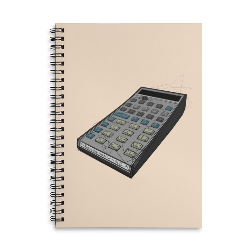 I can send texts with this? Accessories Lined Spiral Notebook by hamenthotep's Artist Shop