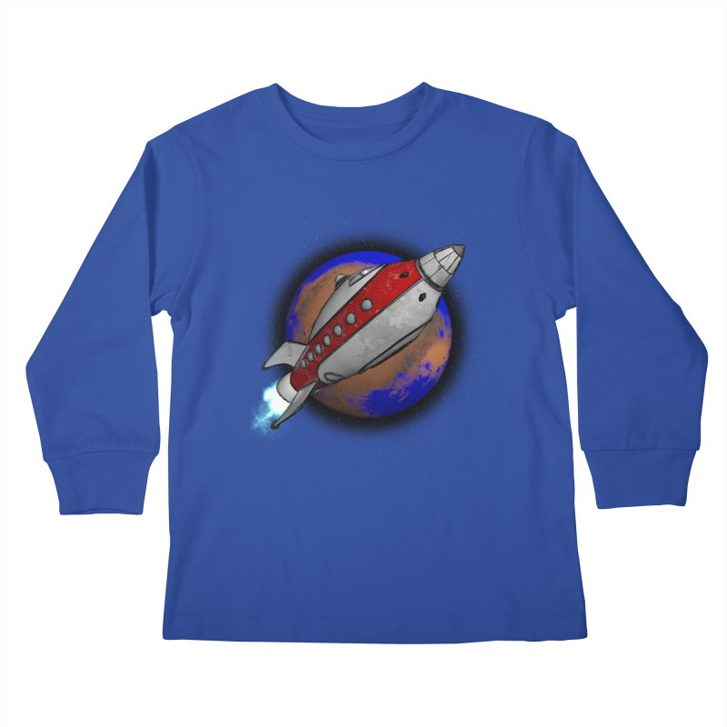 Adventure is out there!  Kids Longsleeve T-Shirt by hamenthotep's Artist Shop
