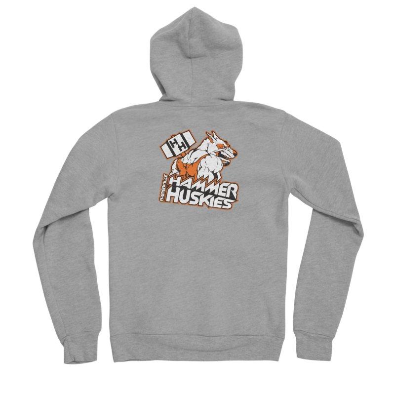 Original Hammer Huskie Women's Sponge Fleece Zip-Up Hoody by Hammer Huskies's Artist Shop