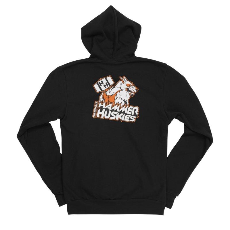 Original Hammer Huskie Men's Sponge Fleece Zip-Up Hoody by Hammer Huskies's Artist Shop