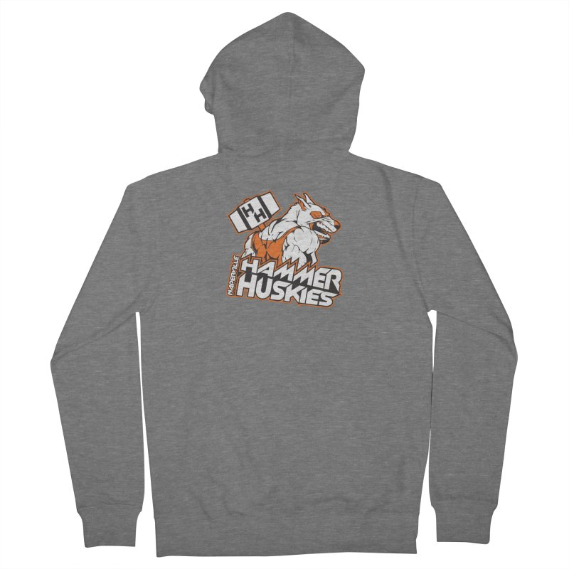 Original Hammer Huskie Women's French Terry Zip-Up Hoody by Hammer Huskies's Artist Shop