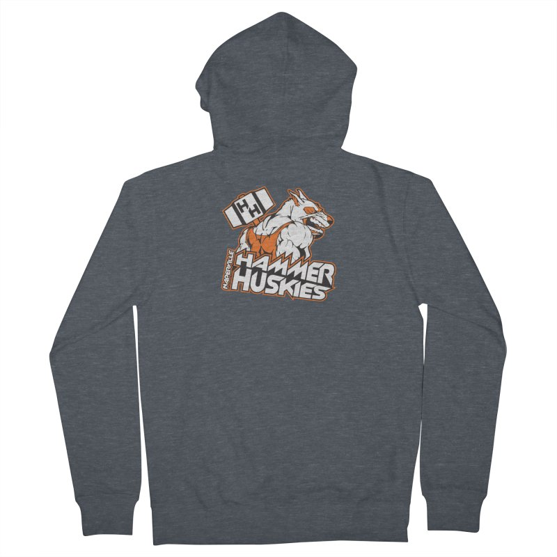 Original Hammer Huskie Men's French Terry Zip-Up Hoody by Hammer Huskies's Artist Shop