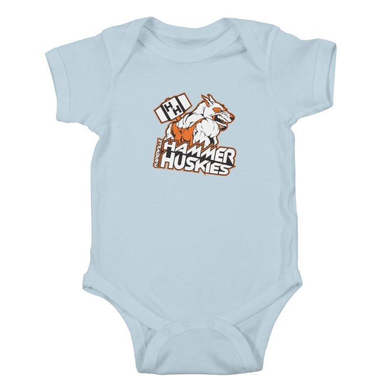 Original Hammer Huskie Kids Baby Bodysuit by Hammer Huskies's Artist Shop