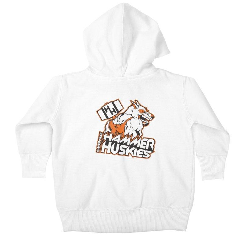Original Hammer Huskie Kids Baby Zip-Up Hoody by Hammer Huskies's Artist Shop