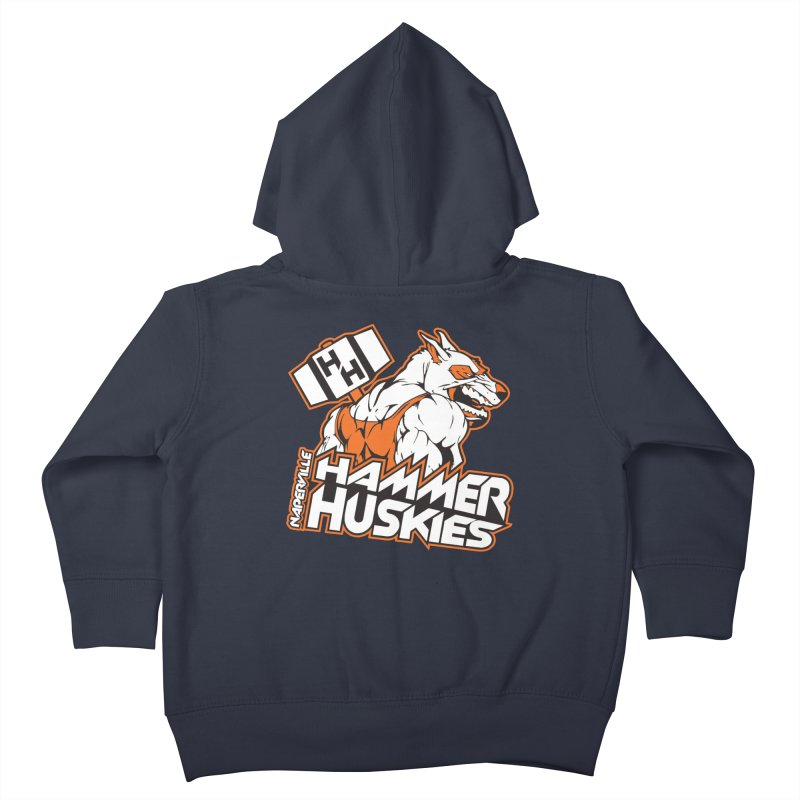 Original Hammer Huskie Kids Toddler Zip-Up Hoody by Hammer Huskies's Artist Shop