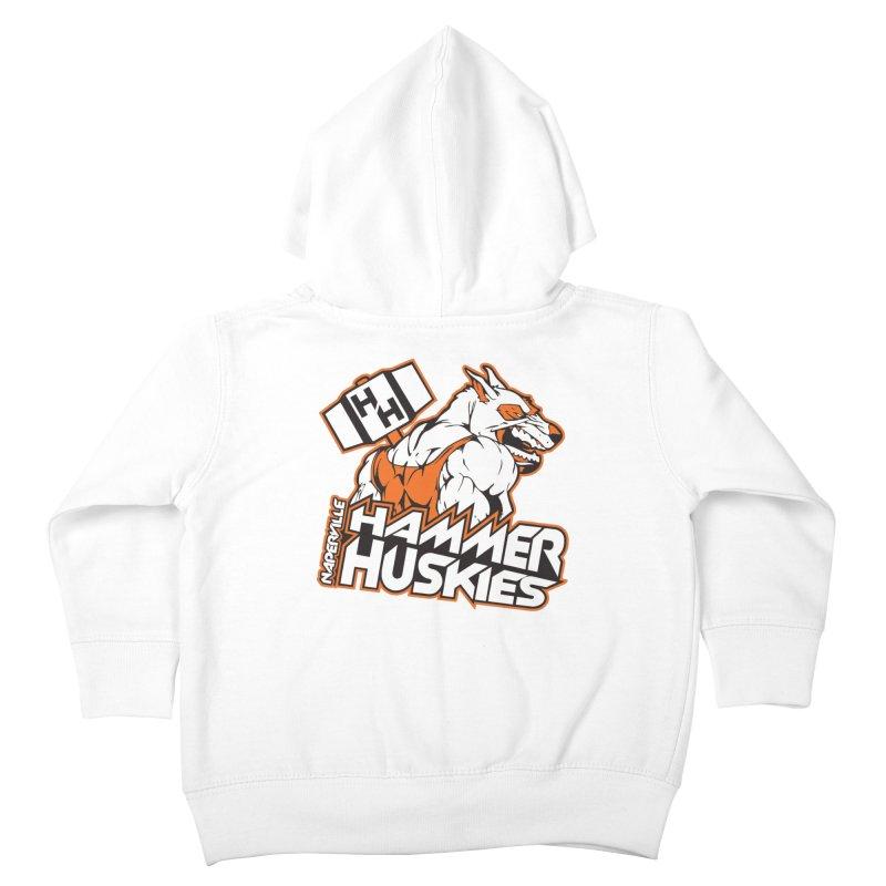 Original Hammer Huskie Kids Toddler Zip-Up Hoody by Hammer Huskies's Artist Shop