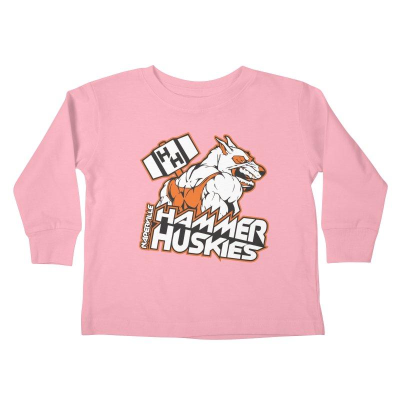 Original Hammer Huskie Kids Toddler Longsleeve T-Shirt by Hammer Huskies's Artist Shop