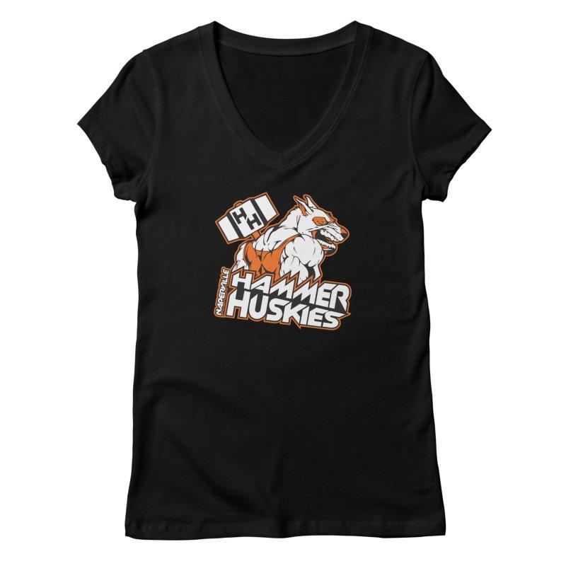 Original Hammer Huskie Women's Regular V-Neck by Hammer Huskies's Artist Shop