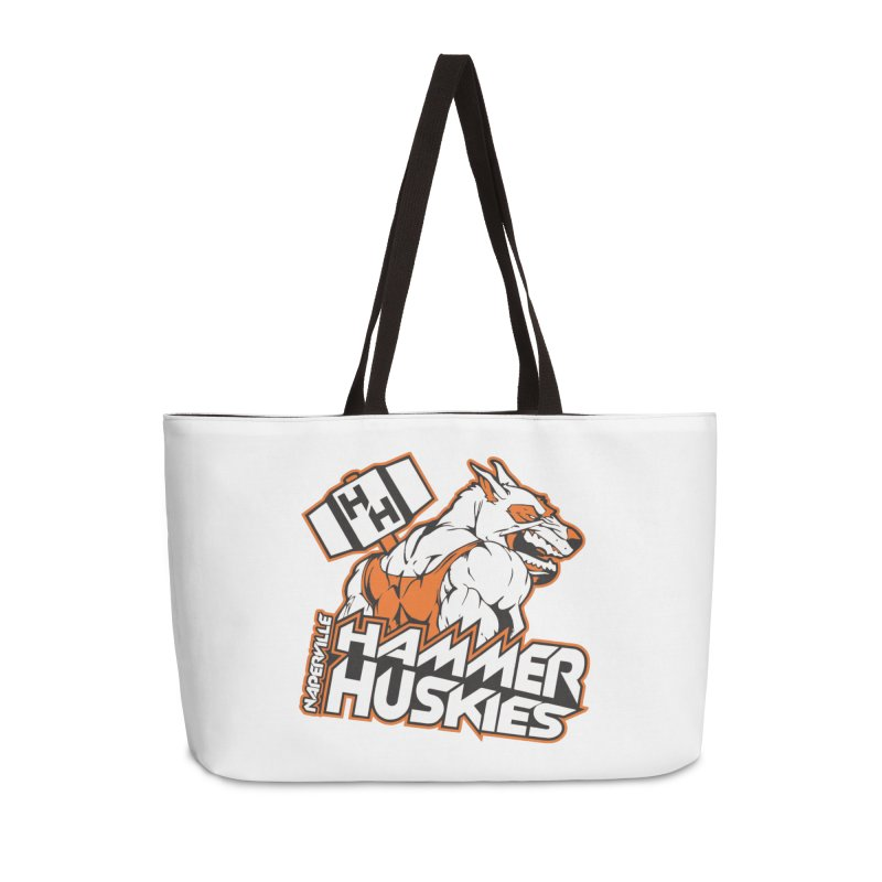 Original Hammer Huskie Accessories Weekender Bag Bag by Hammer Huskies's Artist Shop