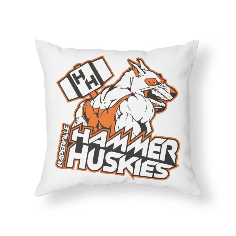 Original Hammer Huskie Home Throw Pillow by Hammer Huskies's Artist Shop