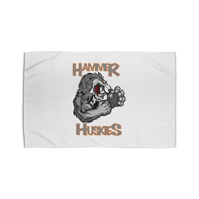 Cartoon Huskie Hands Home Rug by Hammer Huskies's Artist Shop