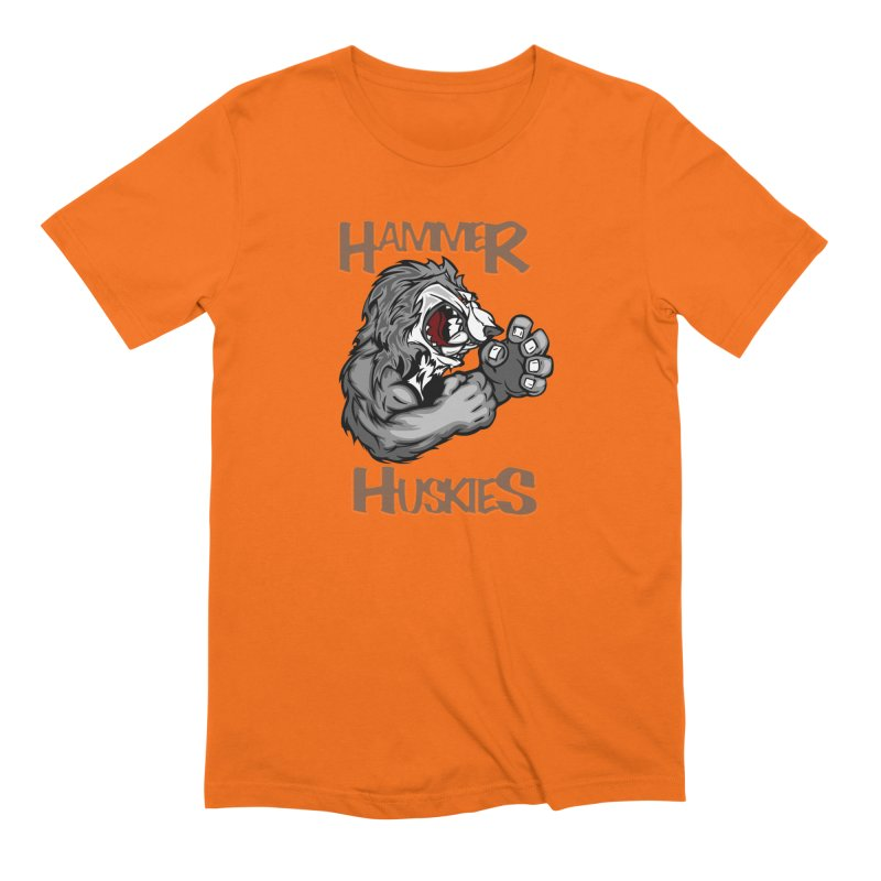 Cartoon Huskie Hands Men's Extra Soft T-Shirt by Hammer Huskies's Artist Shop